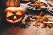 Fête d'Halloween : les citrouilles comme décoration